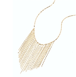 Lana - 14k Long Fringe Necklace