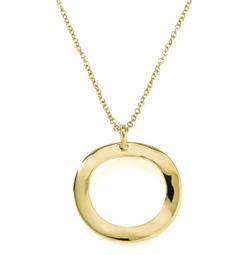 Ippolita  - Mini Wavy Circle Pendant Necklace