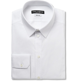Dolce & Gabbana - Gold-Fit Cotton-Blend Shirt