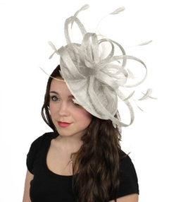 Hats by Cressida - Sinamay Ascot Fascinator Hat