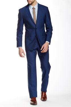 Vince Camuto  - Plain Weave Notch Lapel Slim Fit Wool Suit