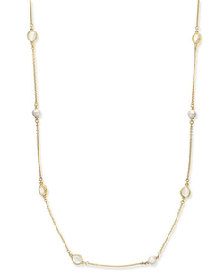Kate Spade New York - Pearl, Stone and Crystal Long Length Scatter Necklace