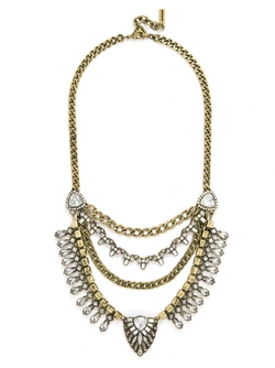 BaubleBar - Sphynx Bib-Clear Necklace