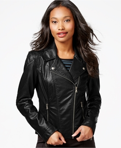 Celebrity Pink - Faux-Leather Moto Jacket