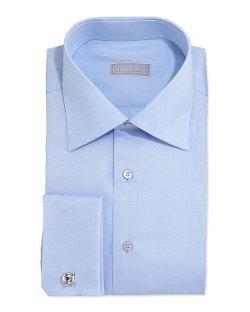 Stefano Ricci   - French-Cuff Solid Dress Shirt