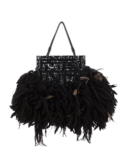 Fendi - Feather and Wool Handle Bag