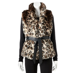 Excelled - Leopard Faux-Fur Vest