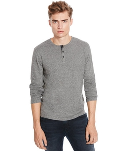 Kenneth Cole New York  - Long Sleeve Henley Shirt
