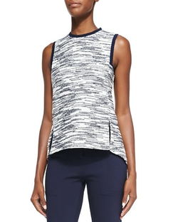 Derek Lam - Novelty Jersey Sleeveless Top