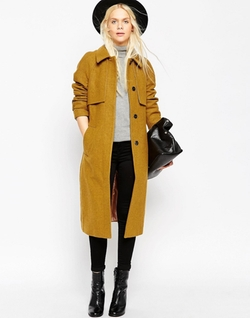 ASOS  - Coat with Trench Details in Wool