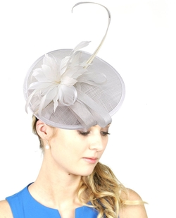 NYfashion101 - Feather Floral Fascinator Hat