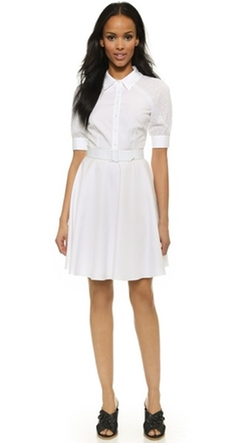 Darwin  - Stephine Eyelet Shirtdress