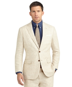 Brooks Brothers - Madison Fit Plaid Linen Suit