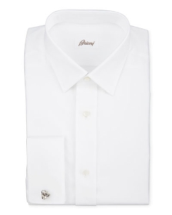 Brioni - Twill Weave With Mother-Of-Pearl Button Shirt