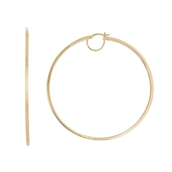 Kohls - Gold Over Silver Hoop Earrings