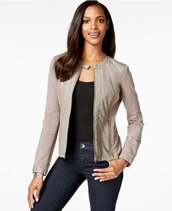 Style & Co.  - Faux-Leather Moto Jacket