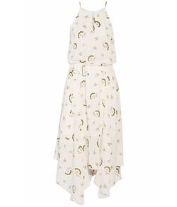 A.L.C. - Topper Printed Silk-Crepe Midi Dress