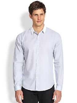 Theory - Stephan Mini Grid Sportshirt