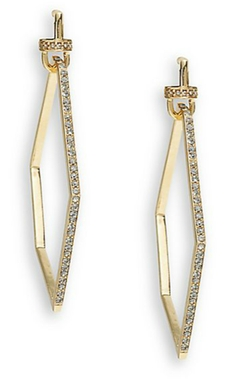 Paige Novick  - Phoebe Pavé Geometric Drop Earrings