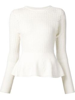 Oscar De La Renta - Peplum Sweater