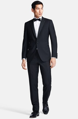 Canali  - Trim Fit Wool/Mohair Tuxedo Suit