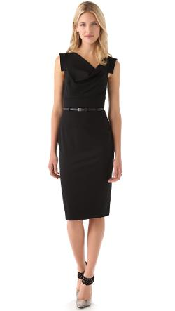 Black Halo  - Jackie O Belted Dress