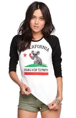 Riot Society  - Koalafornia Raglan T-Shirt