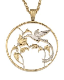 The Difference World Coin Jewelry  - Hummingbird Pendant & Necklace
