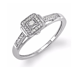 DazzlingRock Collection - Square Frame Engagement Ring