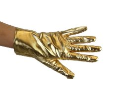 Greatlookz  - Metallic Wrist Length Gloves