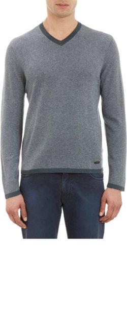Armani Collezioni - Cashmere V-neck Pullover Sweater