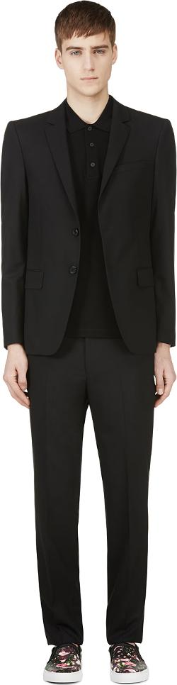 Givenchy  - Black Two-Piece Slim-Fit Suit