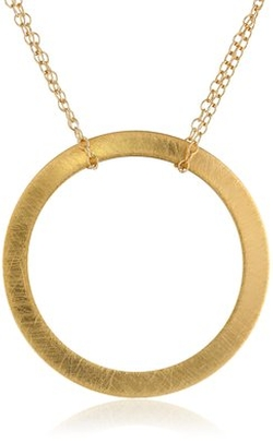 By Boe - Gold-Filled Circle Pendant Necklace