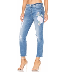 7 For All Mankind - Josefina Embroidered Boyfriend Jeans