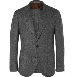 Brunello Cucinelli - Unstructured Herringbone Blazer