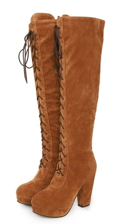 Ye - Knee High Suede Boots