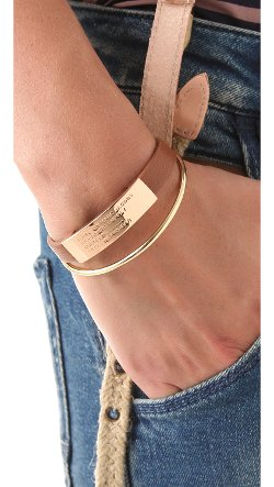 Marc by Marc Jacobs  - Standard Supply Leather ID Bracelet