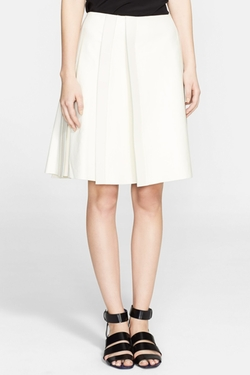 Proenza Schouler - Side Pleat Leather Skirt