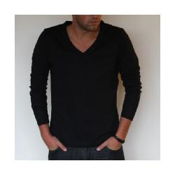 JOVVE  - LONG SLEEVED V-NECK IN BLACK