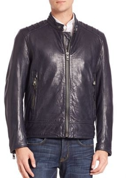 Andrew Marc - Long Sleeve Leather Jacket