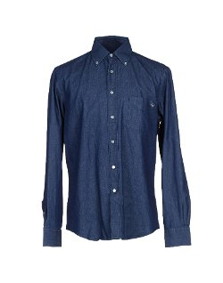 Fay - Dark Wash Denim Shirt