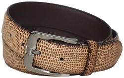 Stacy Adams - Genuine Leather Lizard Skin Print Belt