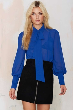 Nasty Gal  - Mademoiselle Pussy Bow Blouse