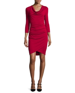 Nicole Miller Artelier - Cowl-Neck Asymmetric Dress