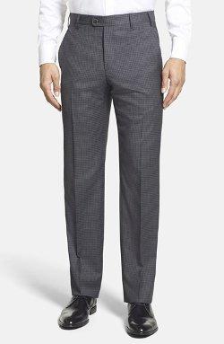 Zanella  - Devon Flat Front Check Wool Trousers
