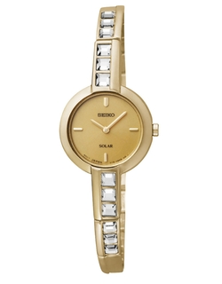 Seiko - Ladies Goldtone Crystal Watch