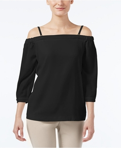 Calvin Klein - Off-The-Shoulder Three-Quarter-Sleeve Top