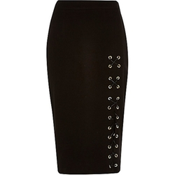 River Island - Eyelet Lace-Up Pencil Skirt