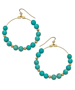 K. Amato - Beaded Hoop Earrings