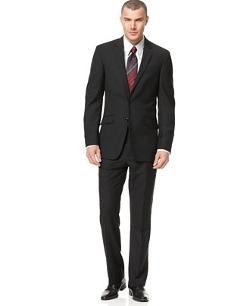 Kenneth Cole Reaction  - Black Solid Slim-Fit Suit Jacket